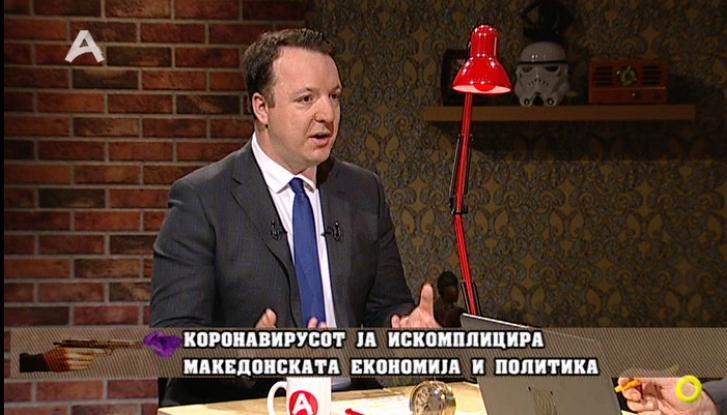 """Александар Николоски вечерва гостин во """"Заспиј ако можеш"""" на Алфа телевизија"""