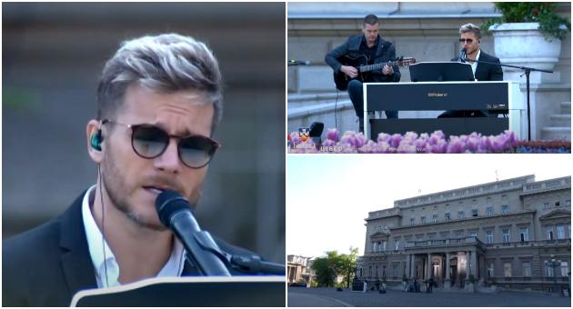 Саша Ковачевиќ пее во живо во празниот Белград – следете го концертот (видео)