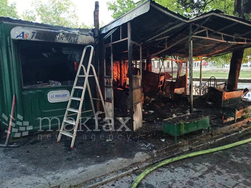 ФОТО: Пожар пеплоса три трафики во Центар