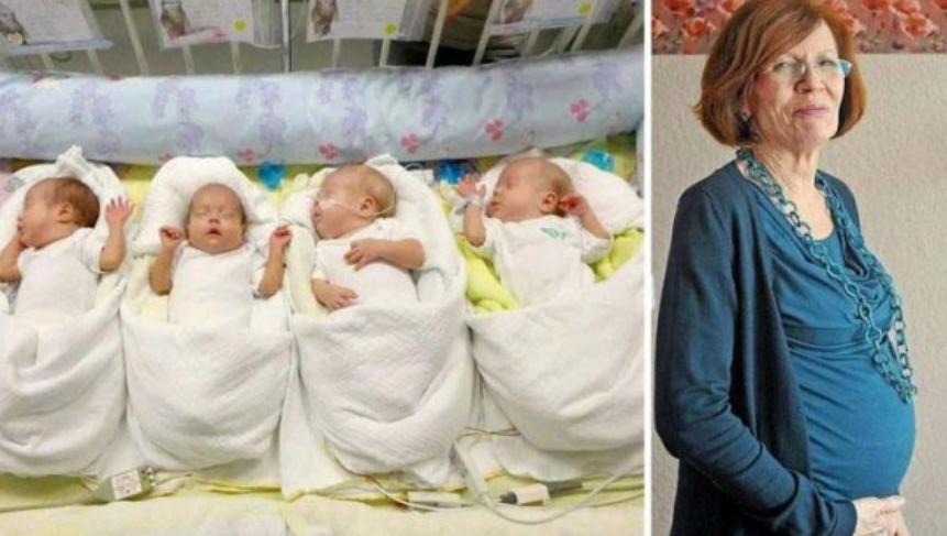 ФОТО: Жена на 65 години родила четири деца