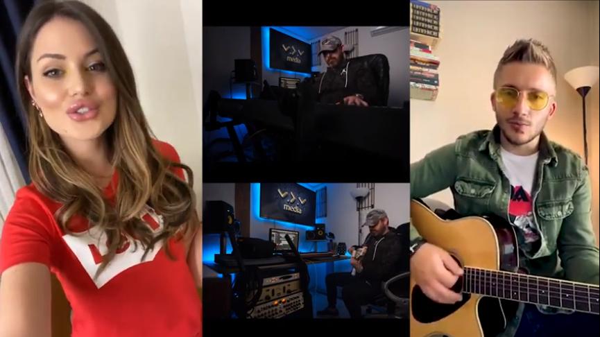 ВИДЕО: Пеат боженствено, изгледаат светски, Филип и Симона со карантински дует