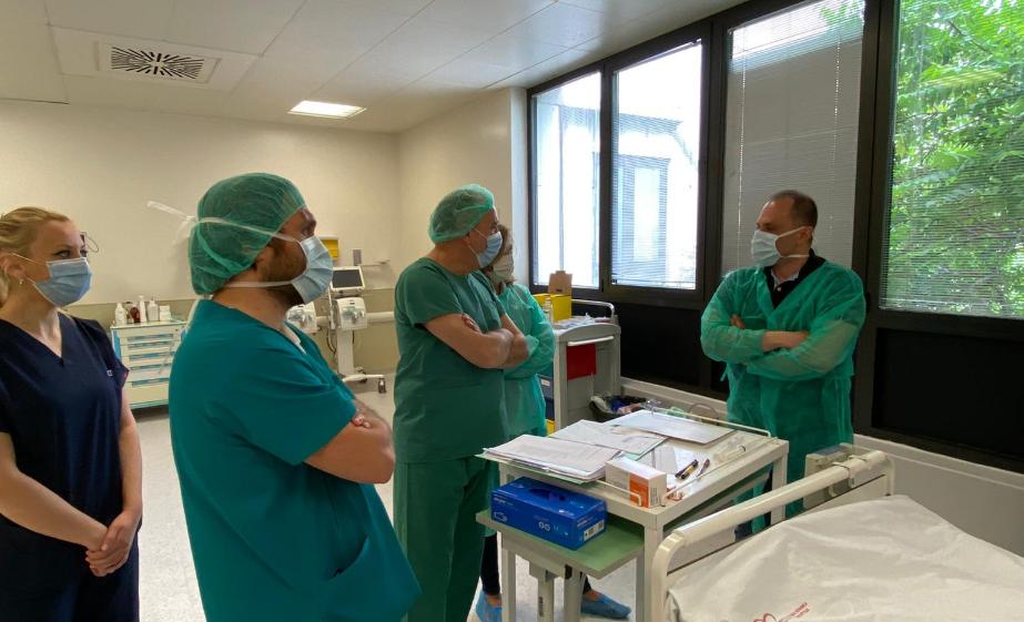 Министерот Филипче го посети пациентот на кој му беше трансплантирано срце