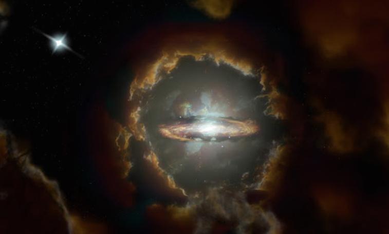 Откриена оддалечена диск-галаксија