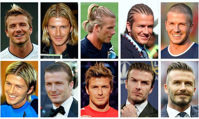 Еволуцијата на фризурите на Дејвид Бекам