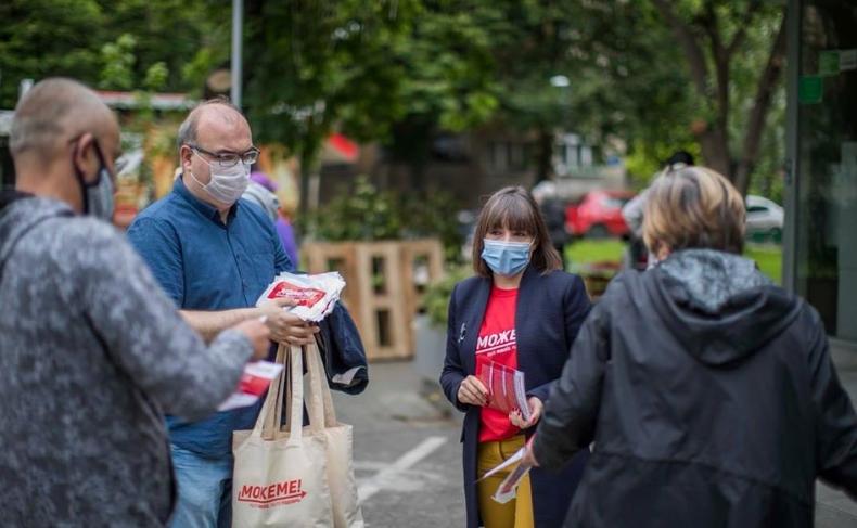 ФОТО: Беа против литија, а сега СДСМ среде корона без заштита ризикува ширење на зараза