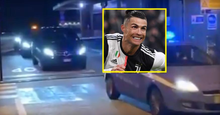 ВИДЕО: Кристијано Роналдо пристигна во Торино, полицијата го пречека на аеродром