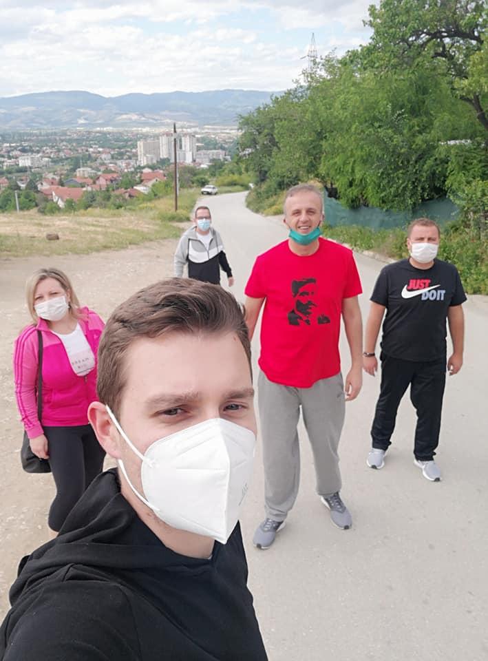 Јаревски: Денеска пешачевме по најдолгата пешачка и велосипедска патека во Карпош што СДС ја ветуваше пред избори и која се разбира не ја направи