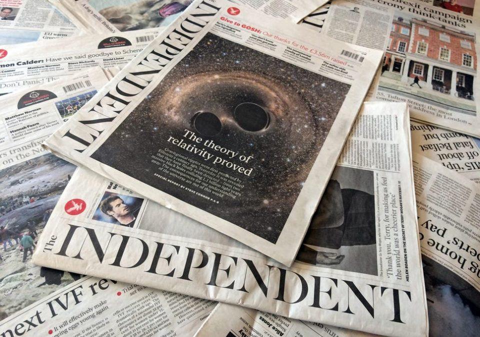 """Британскиот весник """"Индипендент"""" објавува верзија на руски јазик"""