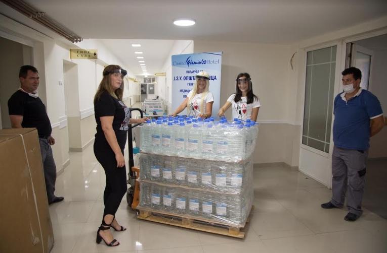 """Казино """"Фламинго"""" хотел Гевгелија донираше дезинфекциони средства во вредност од 20.000 на гевгелиската болница"""
