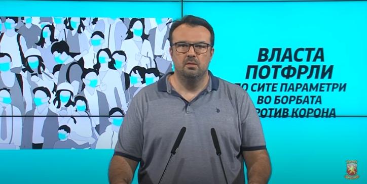Д-р.Дуковски: Власта потфрли по сите параметри во борбата против корона