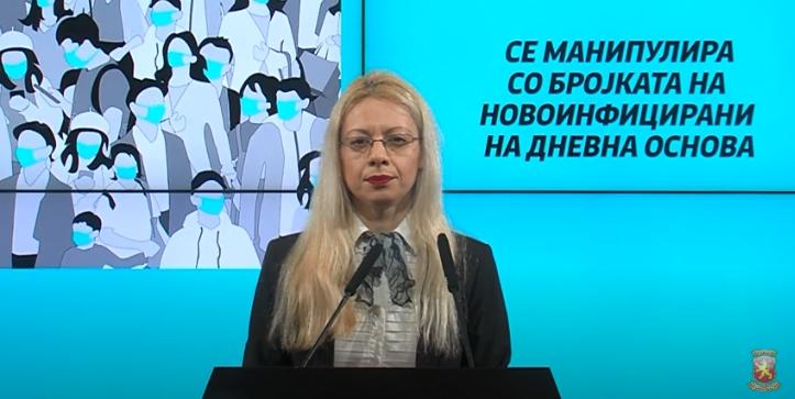 Д-р.Андоновска: Се манипулира со бројката на новоинфицирани на дневна основа