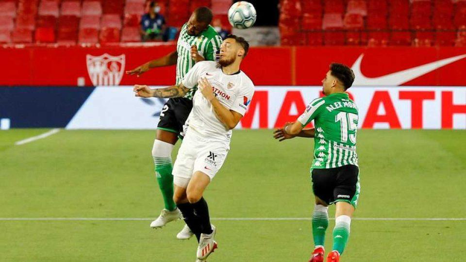 Севиља го совлада Бетис во првиот меч по продолжувањето на сезоната во Ла Лига