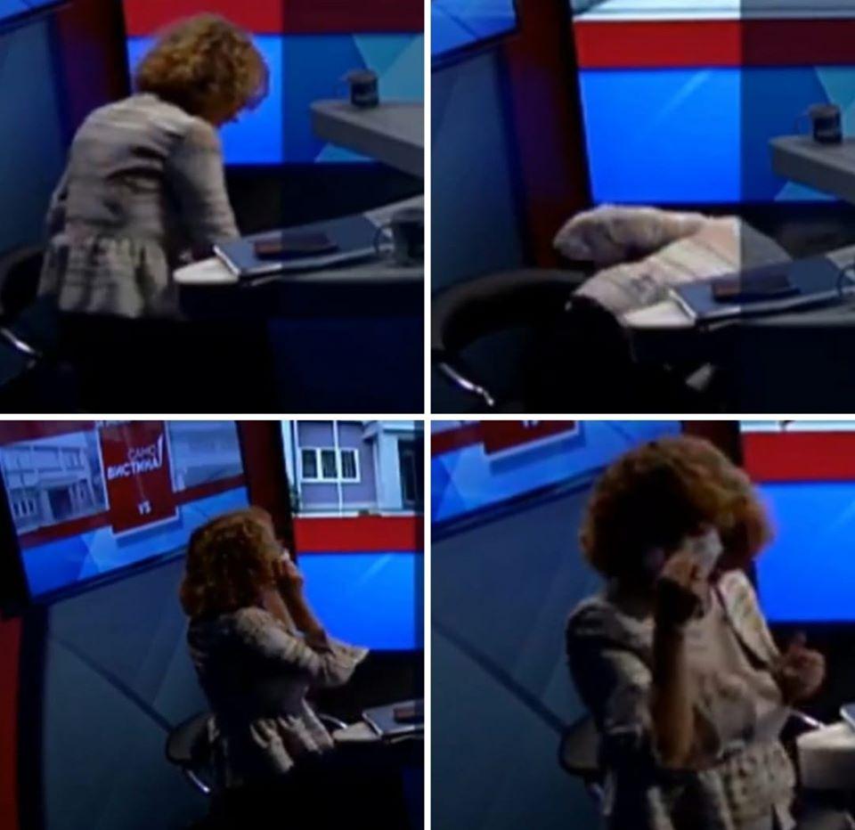 Збунета по дуелот со Николоски: На Шеќеринска и падна маската на под, се наведна, ја зеде и…!