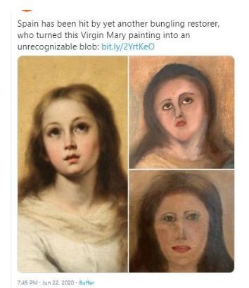 Повторно скандал со реставрација на уметничко дело во Шпанија