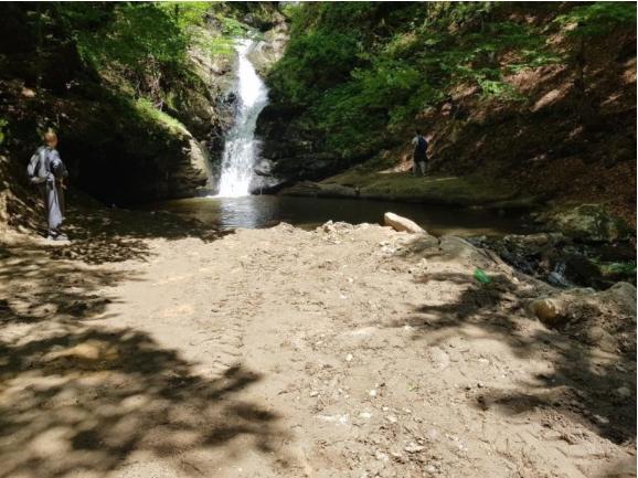 Планинари од Куманово реагираат дека се сече шума кај водопадот во Длабочица