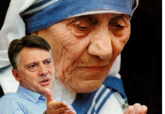 """Се слават 40 години од прогласувањето за почесен граѓанин на Мајка Тереза, на која градскиот """"татко"""" Шилегов веднаш би и го срушил споменикот во изградба"""