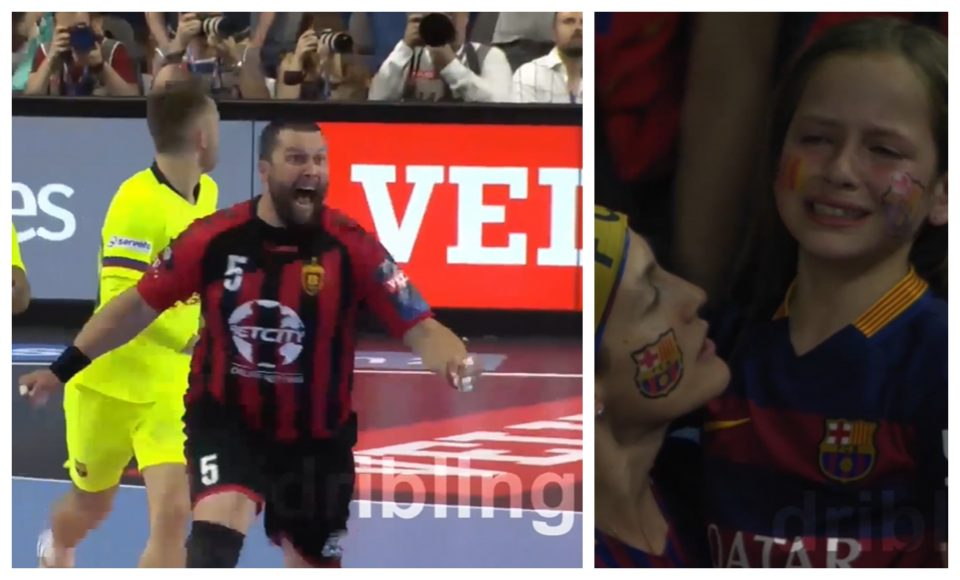 Неверојатното ВИДЕО: Радост на Стоилов, солзите на навивачите на Барселона ,Вардар е во финале!