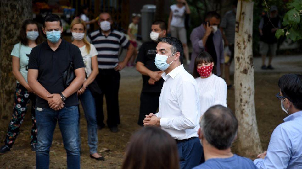 Димитров и Царовска на средба со граѓаните на Карпош