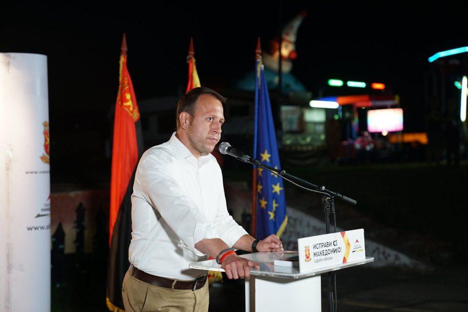 Јанушев: За три години СДСМ видовме многу зло, уништивање на нашата држава, затоа им порачуваме ќе одговараат за сите злодела
