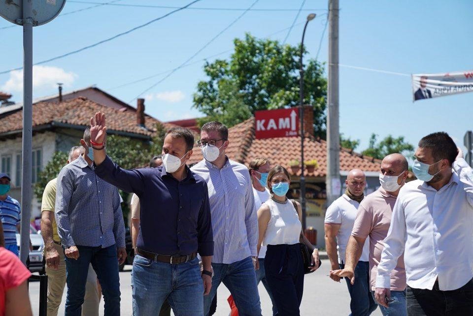 Јанушев и Мицкоски во Крива Паланка: Заев и СДСМ се заглавени во минатото