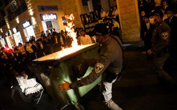 Во Ерусалим протест и судир со полицијата поради мерките за карантин