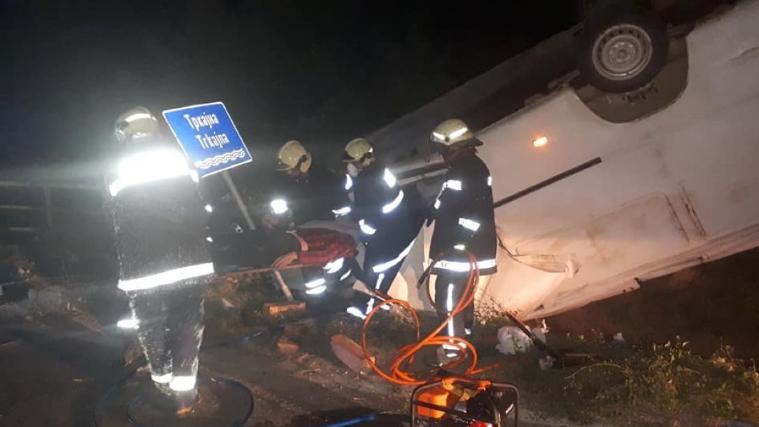 Се преврте комбе со мигранти кај Струмица