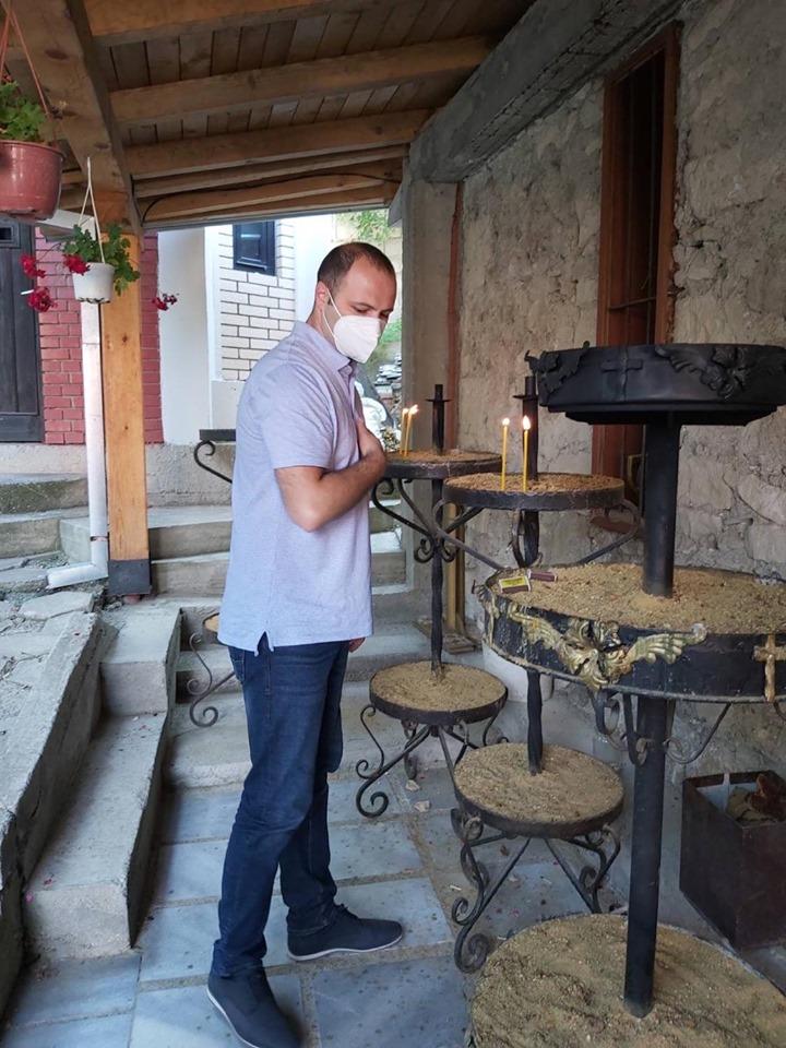 Мисајловски во посета на манастирот св. Ѓорѓија во Кучково