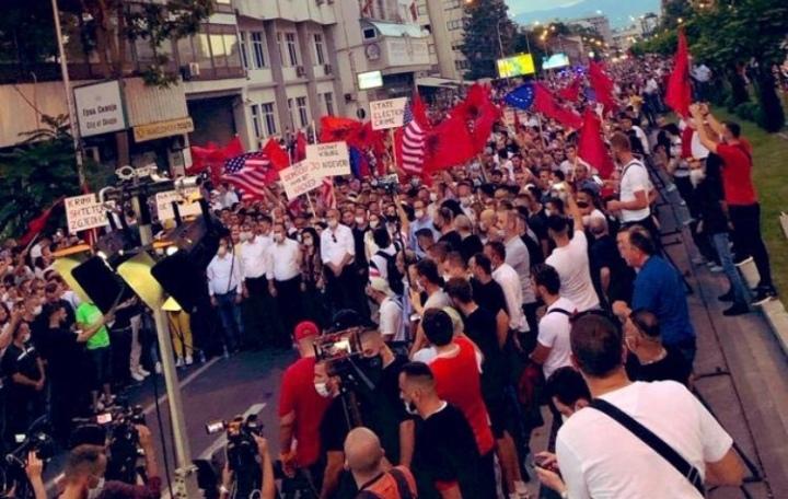 ДУИ за протестот на Алијанса: Срам да ви е, ама срам, срам, срам…
