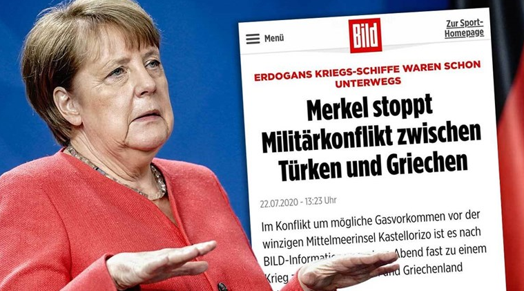 Германски медиуми тврдат дека Меркел неделава спречила воен судир меѓу Турција и Грција