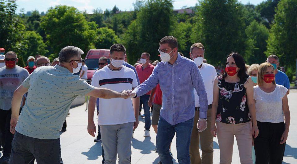Мицкоски: На овие избори изборот е помеѓу СДСМ и нивните истрошени транзициони политичари и ВМРО-ДПМНЕ и политичари кои ќе работат за доброто на народот