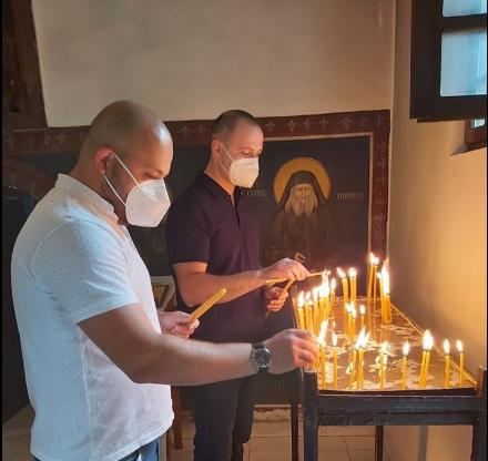 """ФОТО: Мисајловски и Костовски во посета на манастирот """"Св.Никола"""" во Љубанци"""