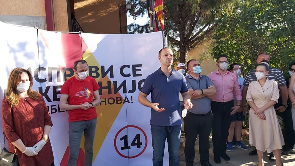 Мисајловски во посета на населбата Иво Тричковиќ: СДСМ бескрупулозно ги лажеле луѓето само за да добијат глас повеќе, а потоа исчезнувале