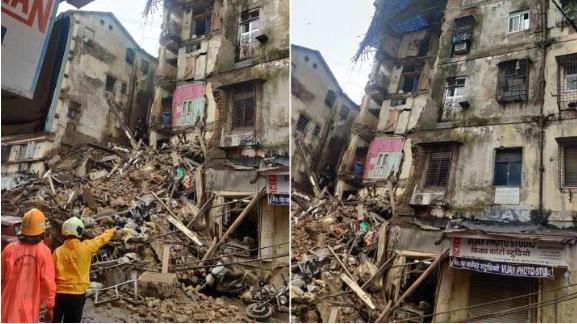 Шест лица загинаа при уривање на зграда во Мумбај