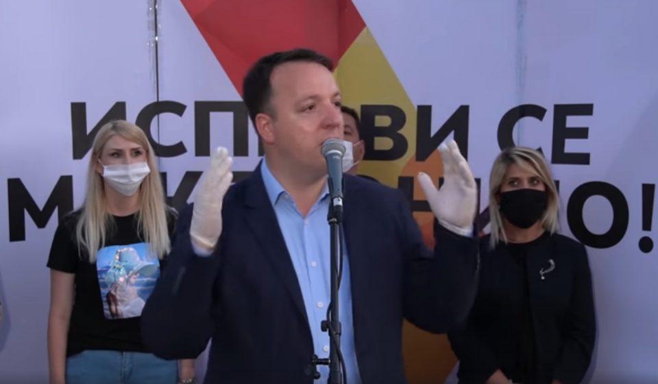 Николоски: На 15 јули победуваме убедливо и ставаме крај на Заев и бандитите околу него