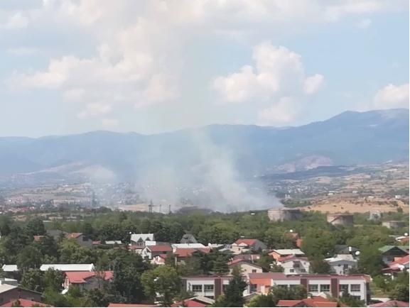 Пожар во Бутел, гори поголема површина сува трева