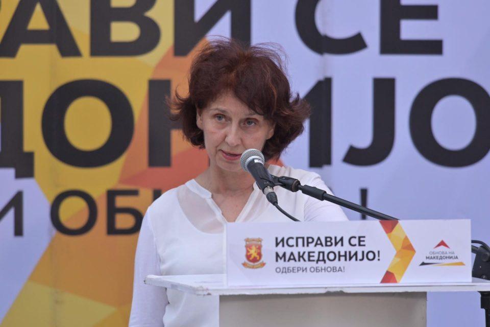 Силјановска: Додека СДСМ ќе отпушта илјадници вработени, ВМРО-ДПМНЕ се обврзува за зголемување на платите до 25 проценти