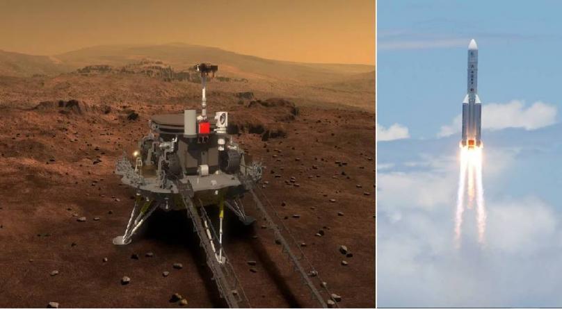 По Емиратите, и Кина за првпат лансираше ровер на Марс