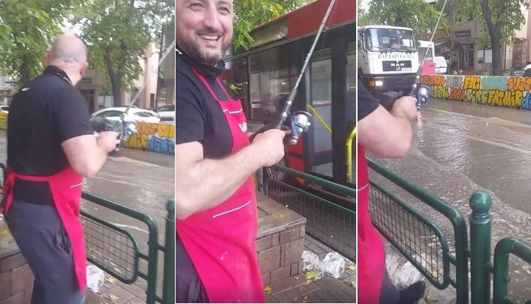 "Чаирчани ""ловат"" риби на улица ВИДЕО"