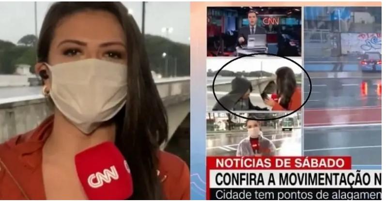 Драма во живо: Новинарка ограбена додека известувала пред камера (ВИДЕО)