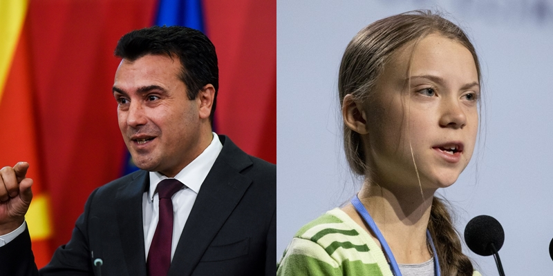 Грета: Вие сте голем и посветен лидер, Заев: Дури и го сменив името на државата