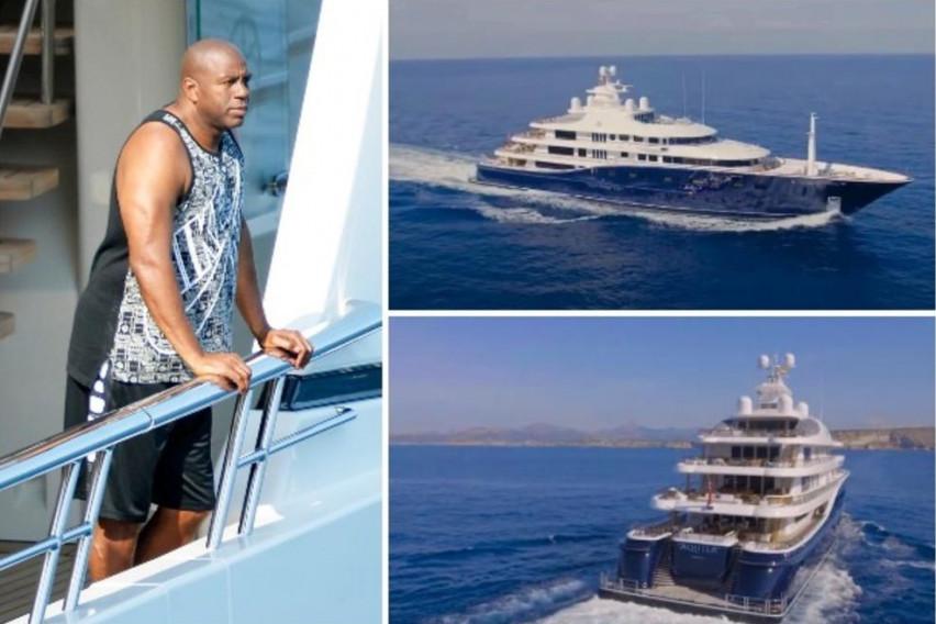 Хрватите со денови зјапаат во неа: Мегалуксузната јахта на Меџик Џонсон од 150 милиони долари остава без здив