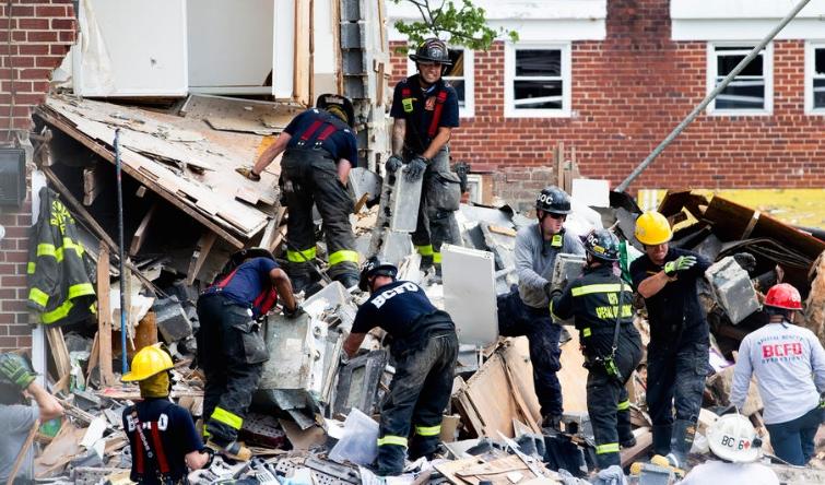 Најмалку една жртва во експлозија на гас во Балтимор