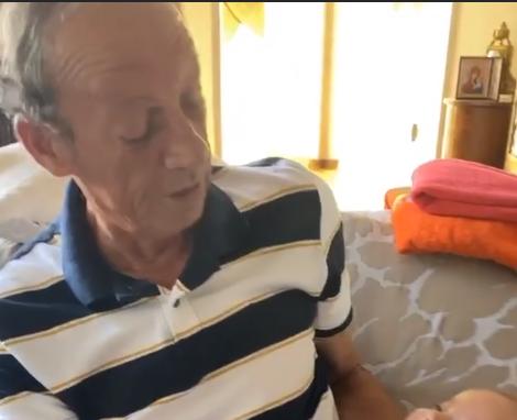 Цеца не издржа, а да не се пофали- еве што прави нејзиниот татко со правнукот Жељко, Вељко цело време се смееше (ФОТО)