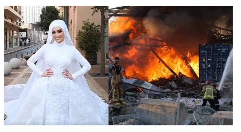 Невеста среде снимање се спасува од експлозијата во Бејрут (ВИДЕО)