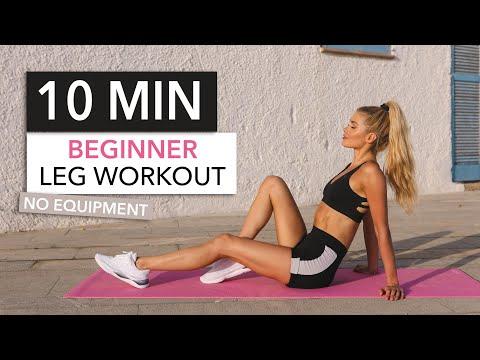 Едноставни вежби за нозе за почетници