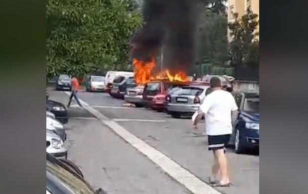 МВР со детали за пожарот во Ново Лисиче- изгореа три автомобили
