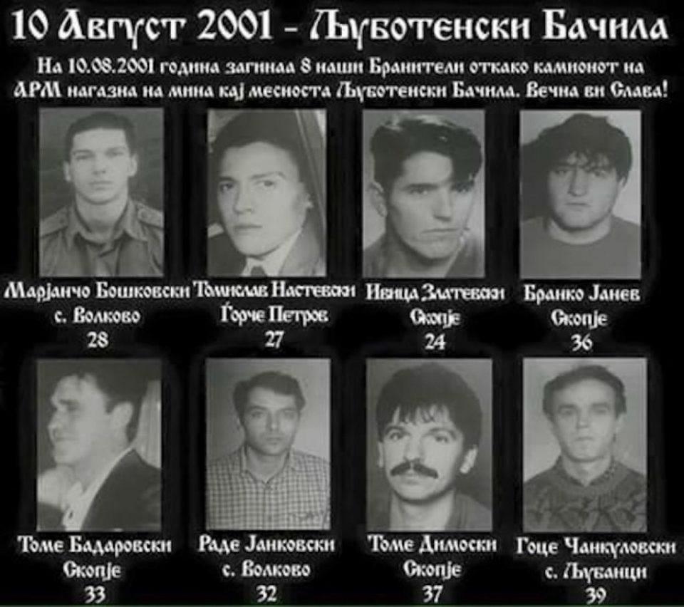 Деветнаесет години од загинувањето на бранителите кај Љуботенски бачила