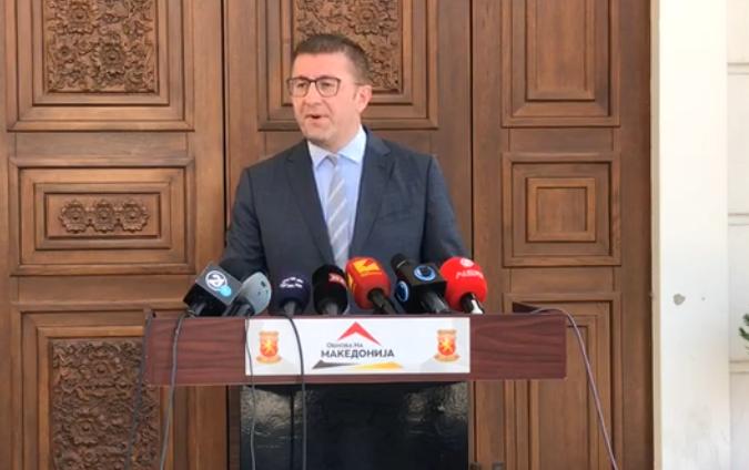 Мицкоски: Со пратениците ќе одиме кај Пендаровски за да каже зошто му го даде мандатот на Заев