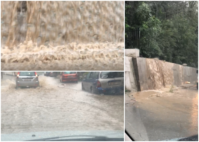 Во Карпош водопади се леат низ улиците по невремето- за општинските власти и Богоев работното време одамна заврши (ВИДЕО)