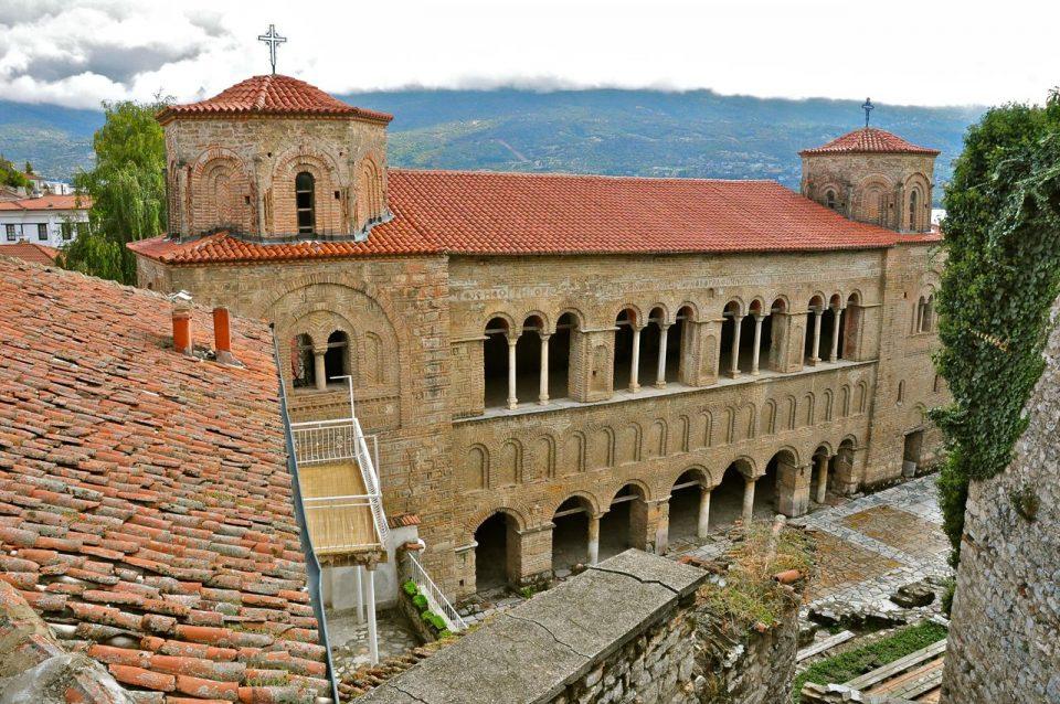 Физичко обезбедување на црквата Света Софија во Охрид